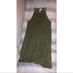 Green shift flowy dress